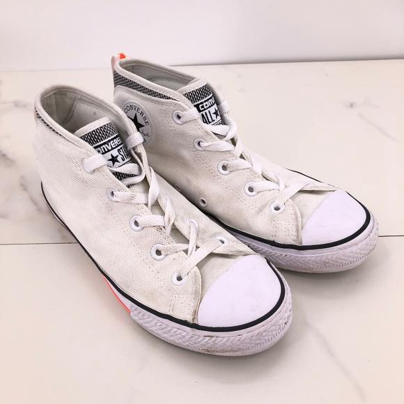 Cream High Top Canvas Shoe | Poshmark